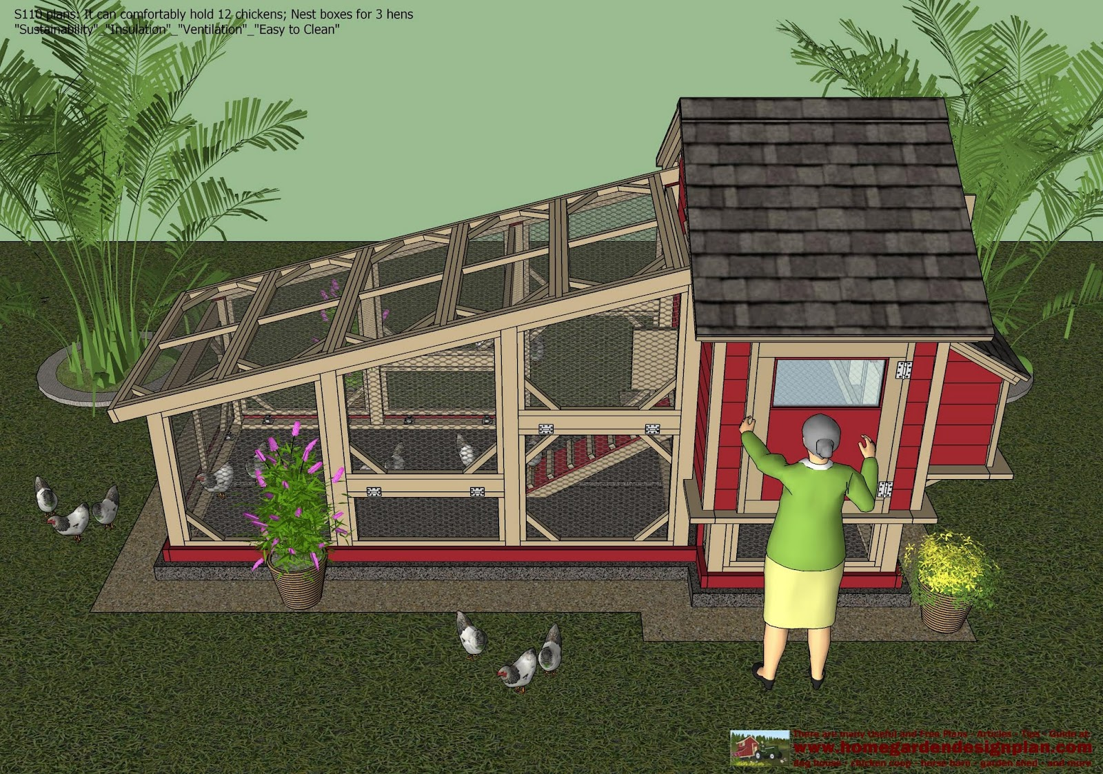 how to build an a frame chicken coop