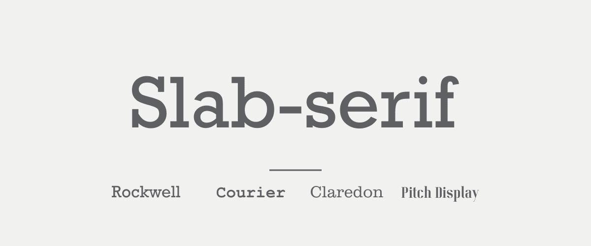 Mengenal Jenis-jenis Font - Slab-serif Font