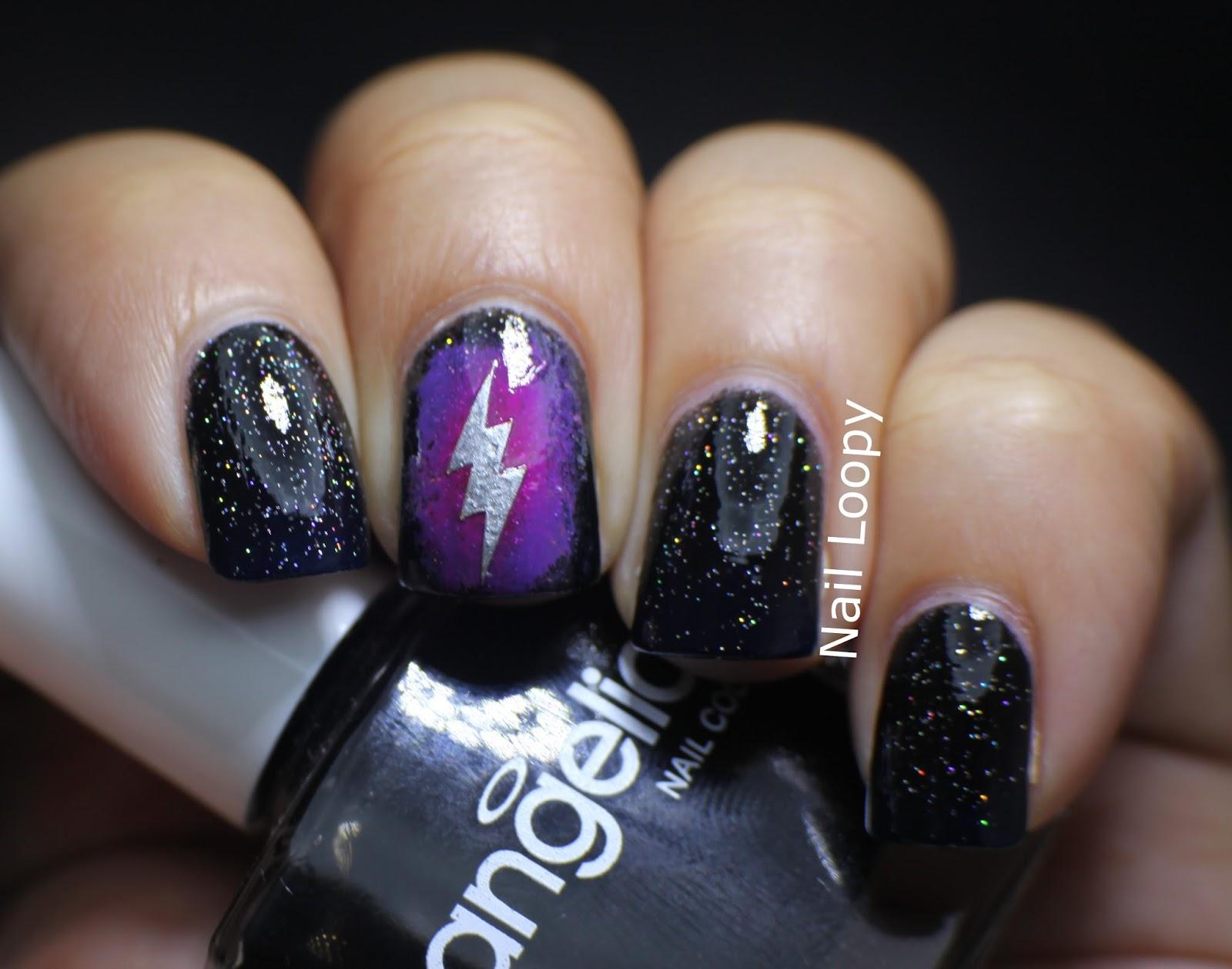 Nail Loopy Lightning Nails