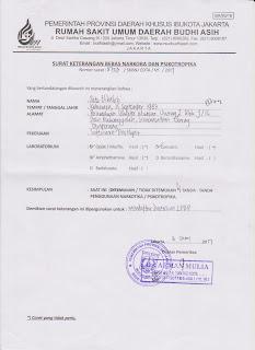 Surat Keterangan Sehat Dan Bebas Narkoba LPDP (Dan Bebas TBC Untuk Program Luar Negeri)