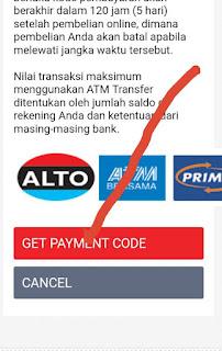 pembayaran via ATM transfer untuk membeli di aliexpress