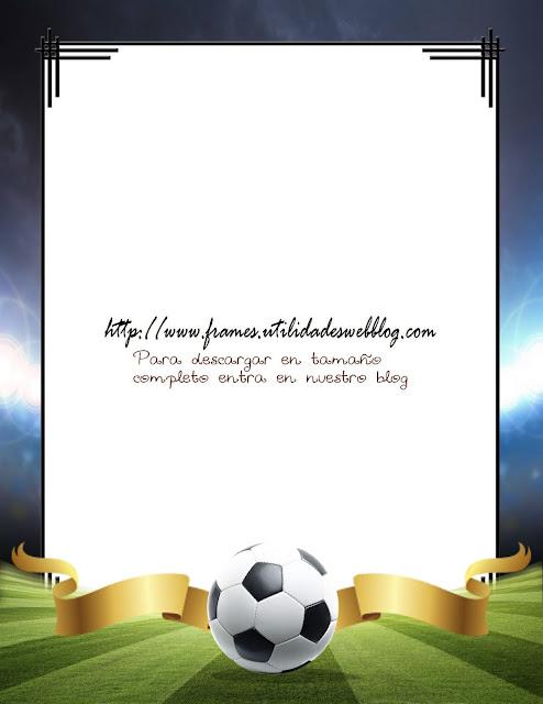 marco para fotos de fútbol