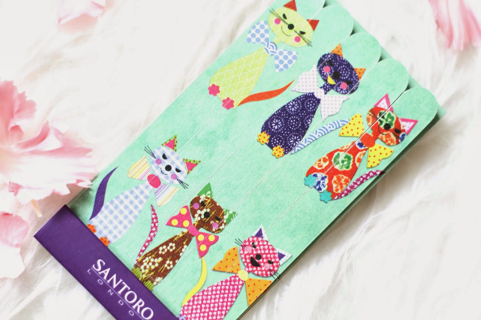 Cute emery boards with cat print from Santoro London
