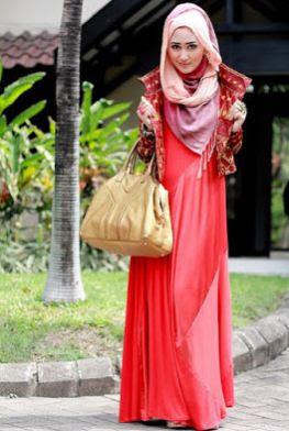 contoh baju batik muslim elegan