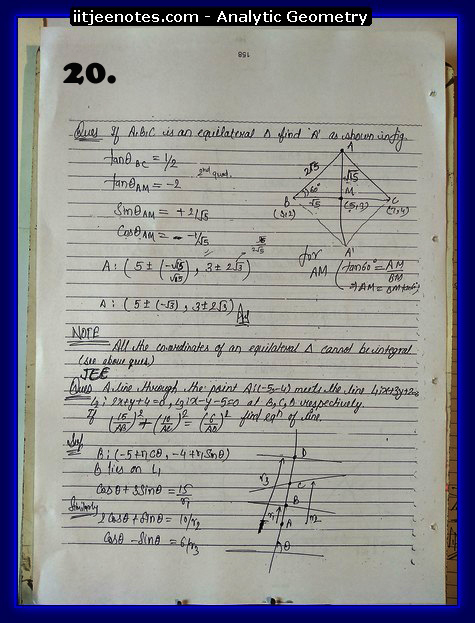 analytic geometry notes8
