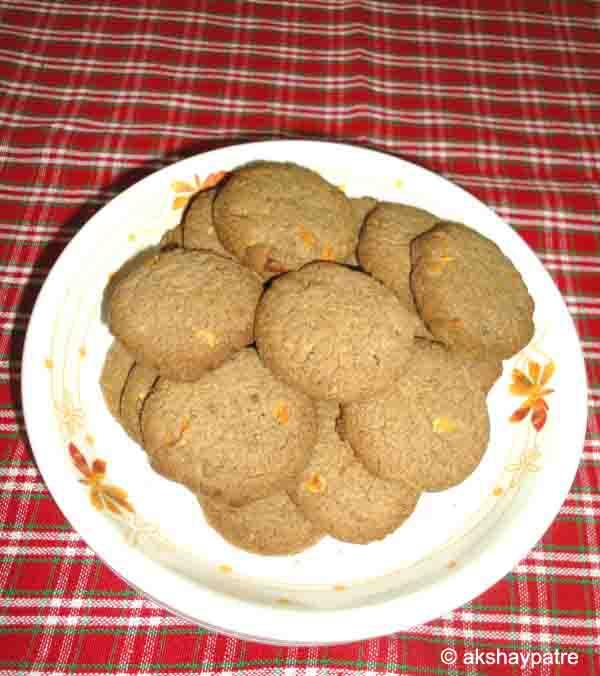 Jowar raagi badam cookies ready to serve