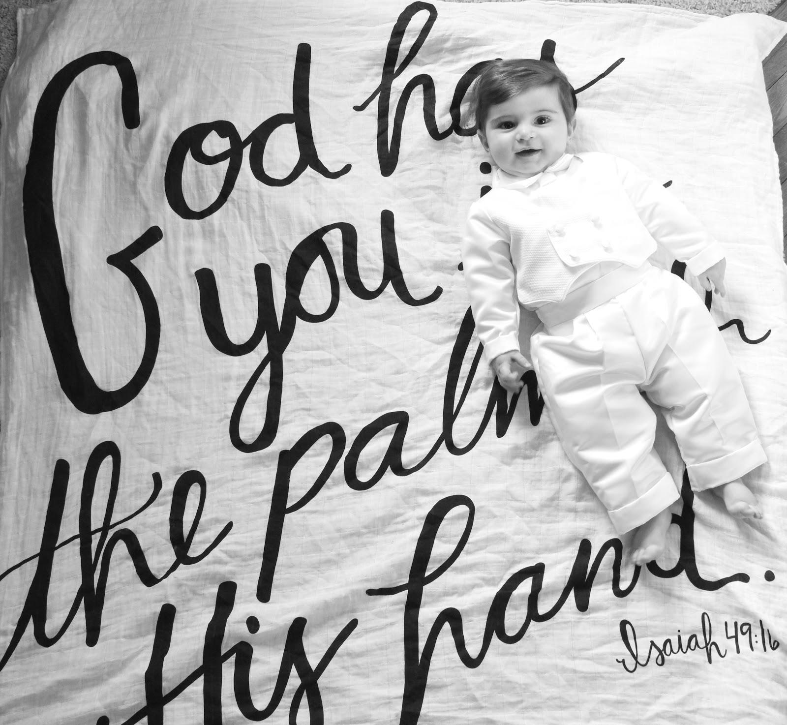 Isaiah 49:16 Swaddle Blanket