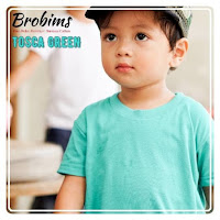 kaos polos anak premium green tosca