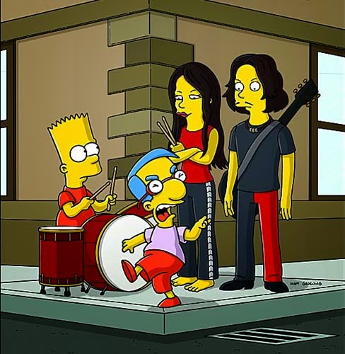 White Stripes Simpsons
