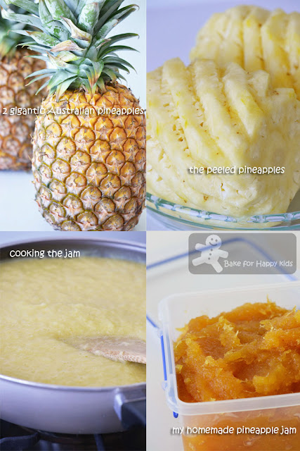 homemade pineapple tart jam