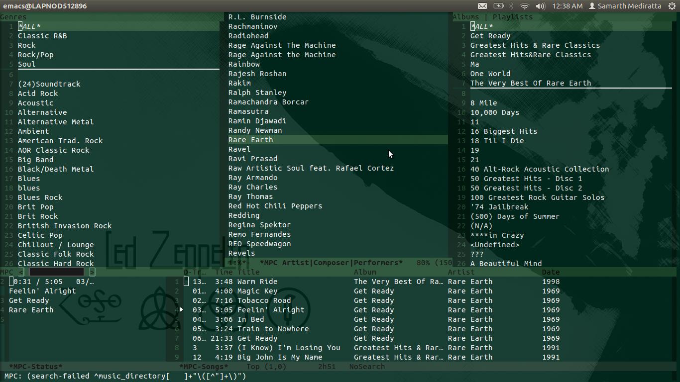 Emacs over everything | Hello  Goodbye