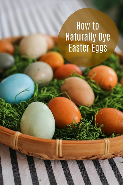 earthy toned naturally dyed Easter eggs i