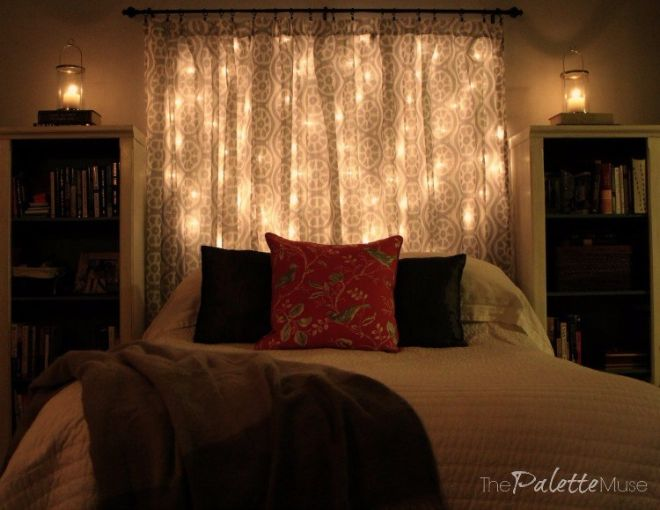 Diy dreamy light up headboard handy diy for Cool bed head ideas
