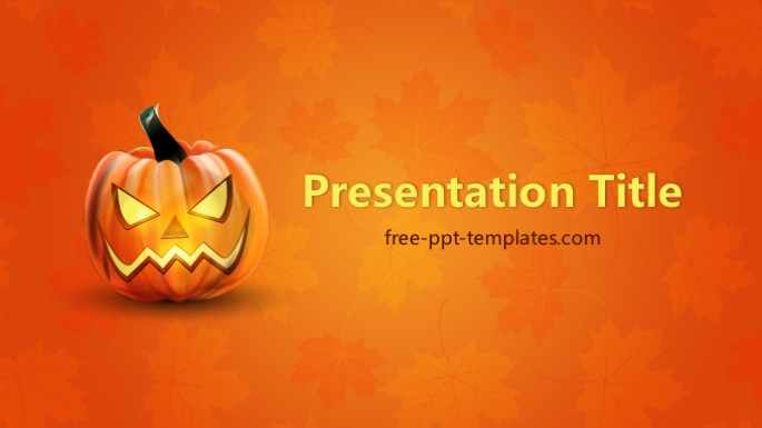 halloween pumpkin ppt template, Modern powerpoint