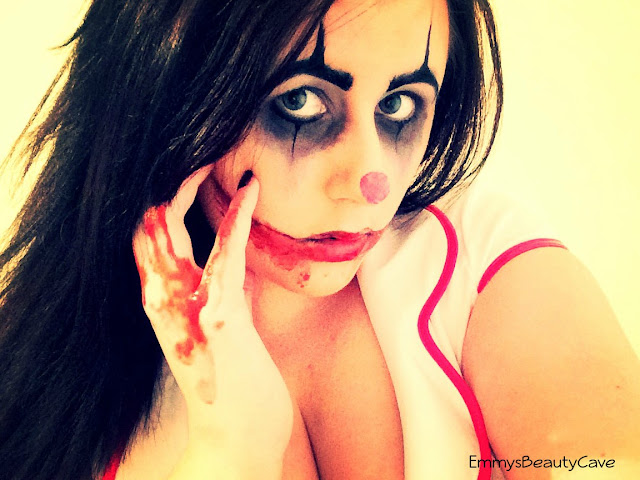 Scary Clown Halloween Makeup