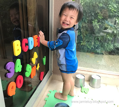 Toddler Activities Water Play Balcony Foam Letters