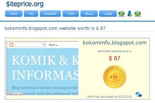 Cek Harga Website dan Blog di siteprice.org
