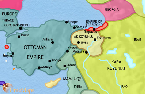 map of anatolia