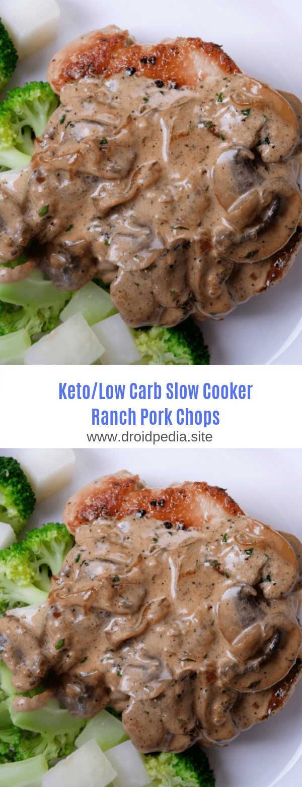 KETO/LOW CARB -SLOW COOKER RANCH PORK CHOPS