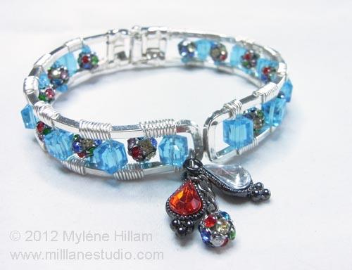 Preparing to wire wrap a bracelet frame