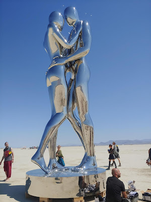 Burning Man statues