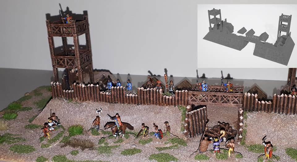 10mm Wargaming: 10mm Roman Camp from Printable Terrain
