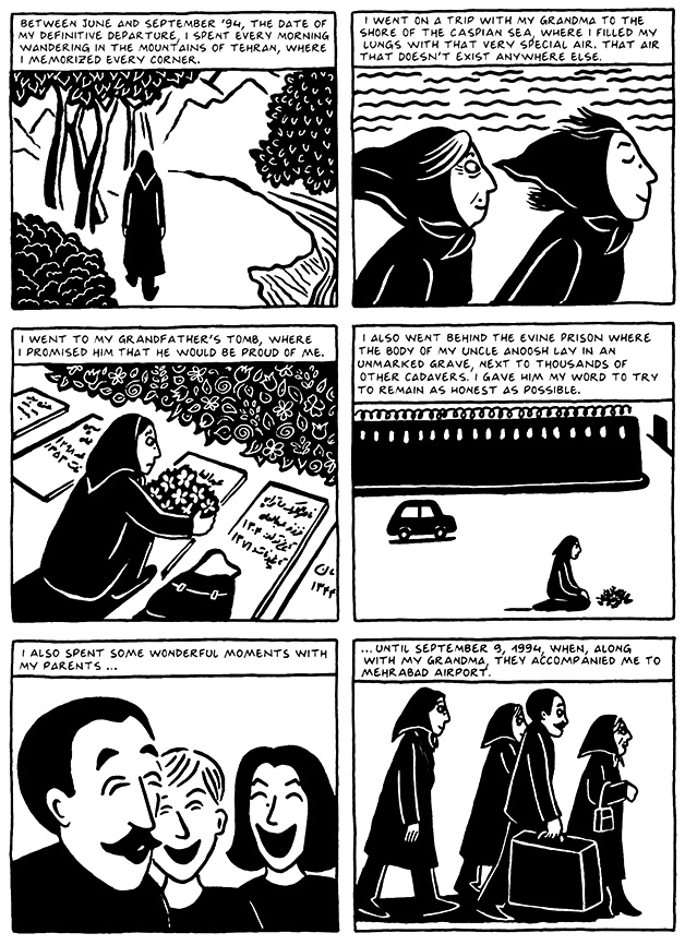 Read Chapter 19 - The End, page 186, from Marjane Satrapi's Persepolis 2 - The Story of a Return