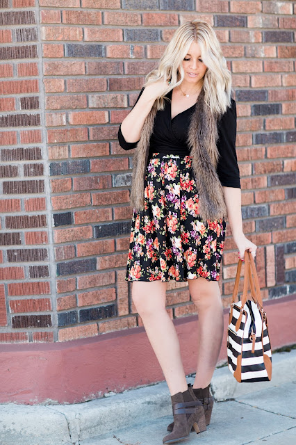Utah Fashion Blogger, Nursing Top, Striped Diaper Bag