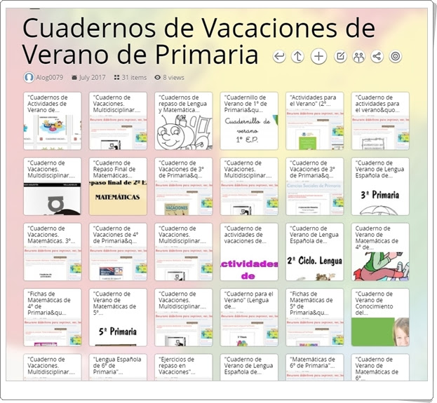 """""""Cuadernos de Vacaciones de Verano de Primaria"""" (Colección)"""