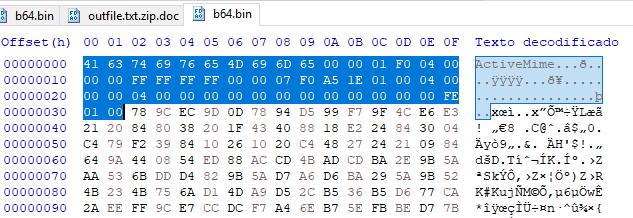 Binario en ZLIB imagen