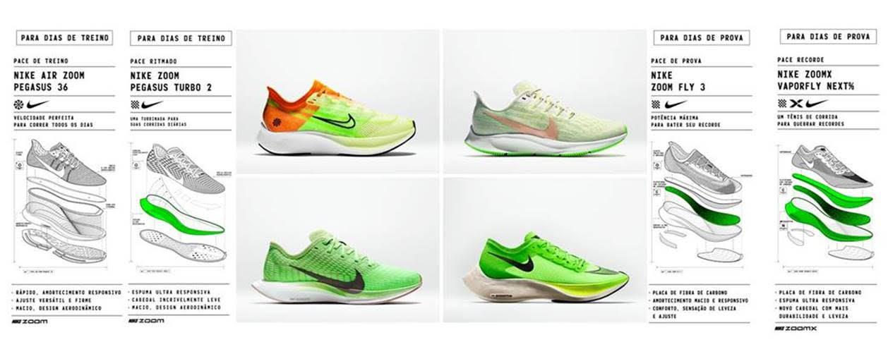 c2fc42a2c Nike atualiza os tênis de corrida mais rápidos da marca e apresenta o novo
