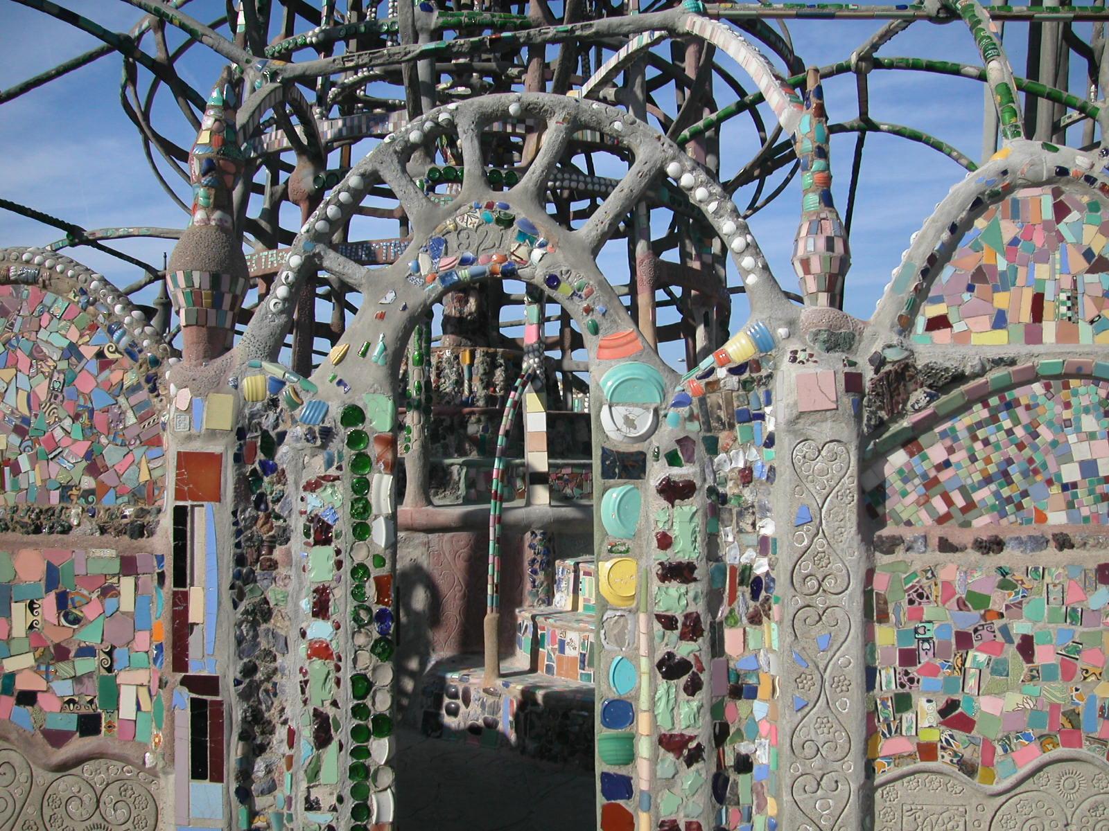 History Los Angeles County Watts Towers as Mosaic Art