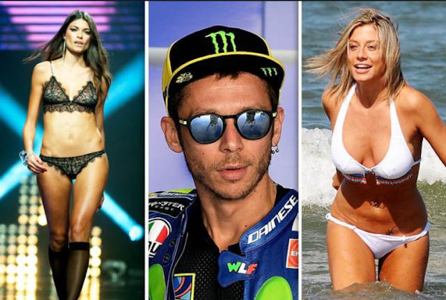 Valentino Rossi dan Linda Morselli yang terlihat Sexy