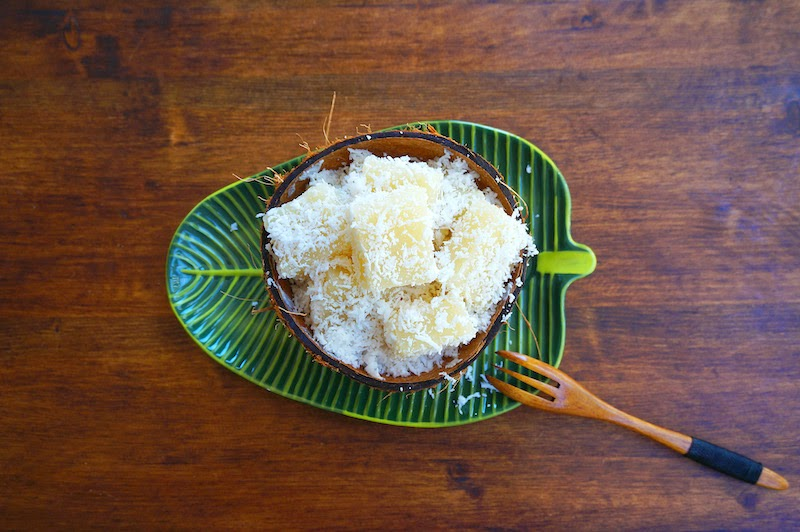 Chinese Steamed Coconut Cake Recipe