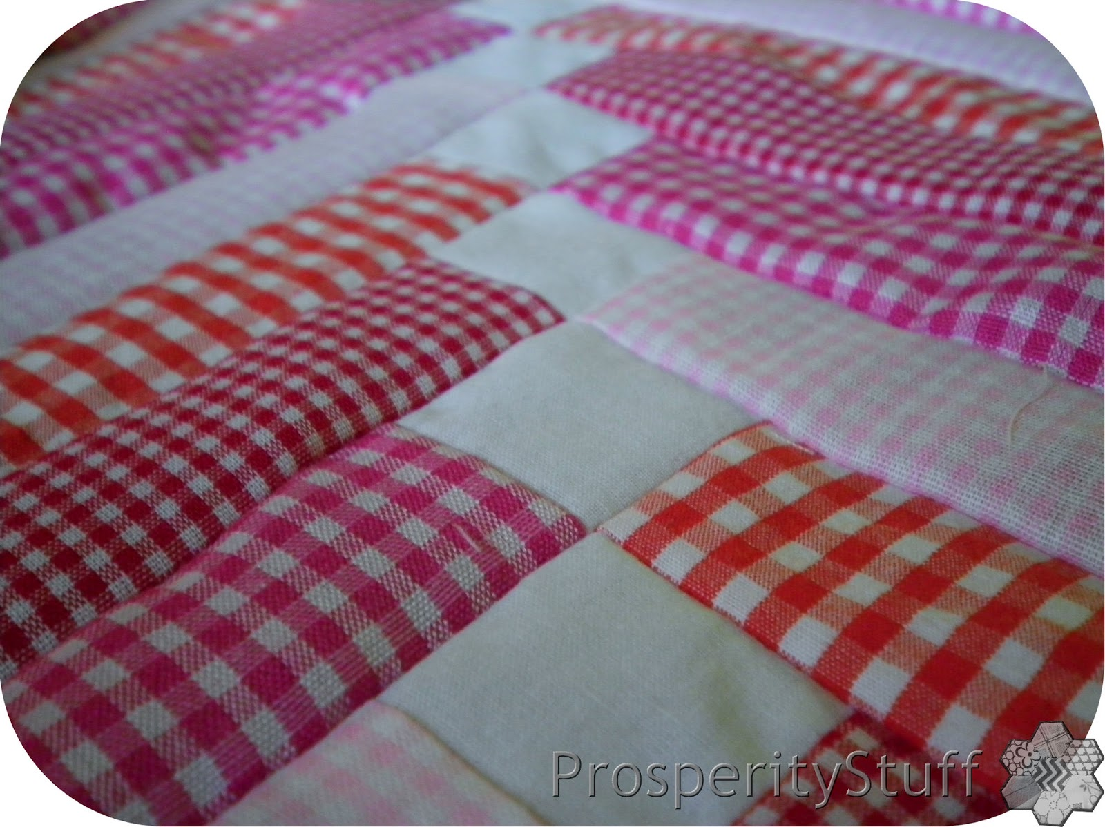 Prosperitystuff Quilts Gingham French Braid Quilt Blocks