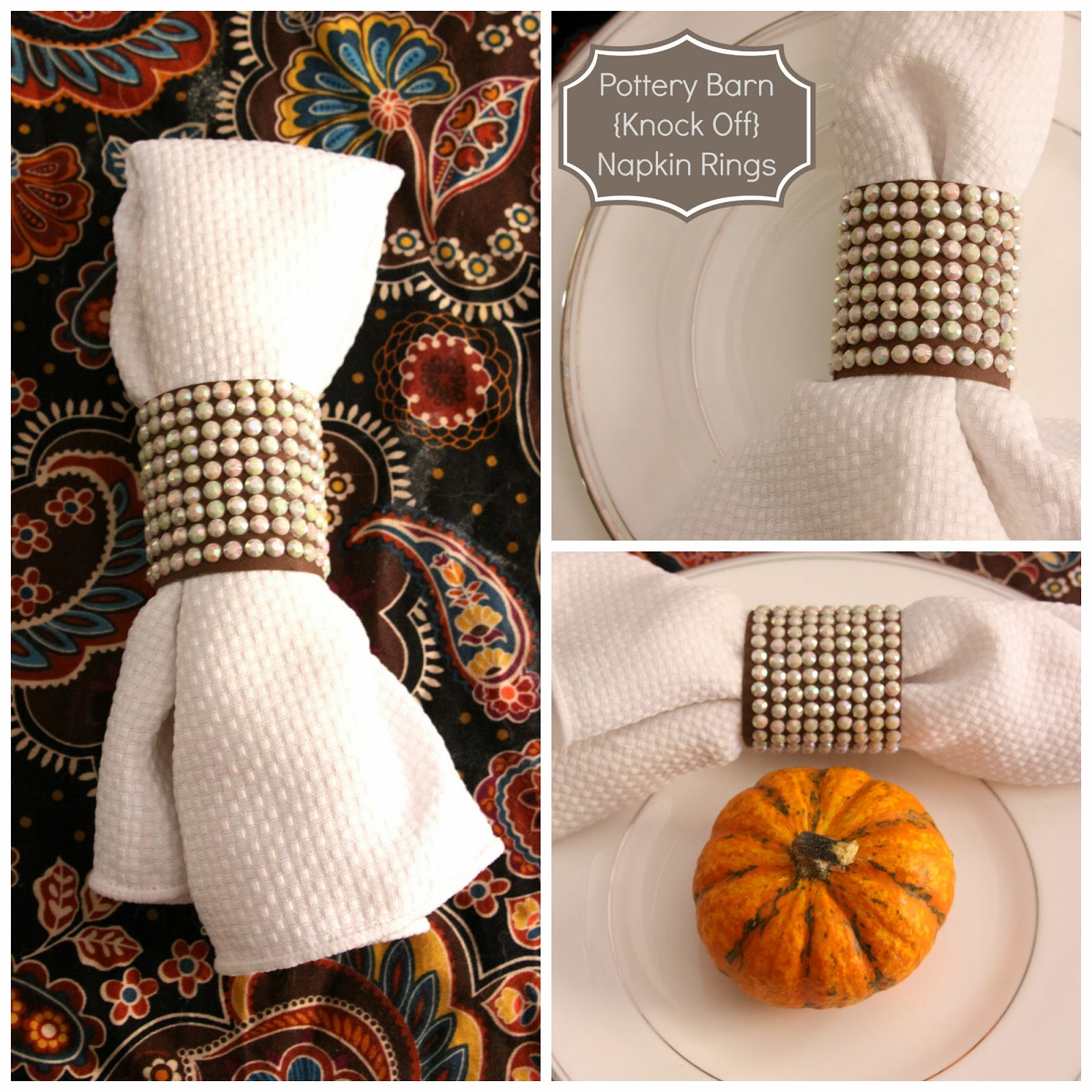 Our Pinteresting Family Pottery Barn Knock Off Napkin Rings