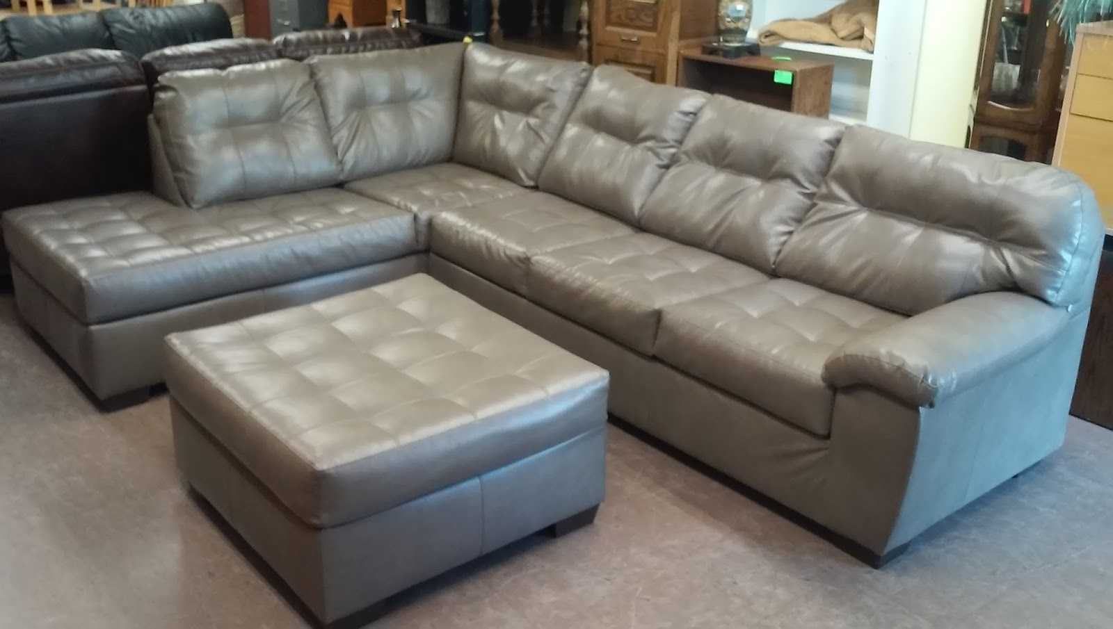 Where To Donate Sectional Sofa Standard Uhuru Furniture & Collectibles: Sold Pleather With ...
