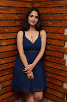 Radhika Mehrotra in a Deep neck Sleeveless Blue Dress at Mirchi Music Awards South 2017 ~  Exclusive Celebrities Galleries 007.jpg