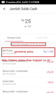 Pulsa Gratis dari CashTree di Android