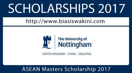 ASEAN Masters Scholarship 2017