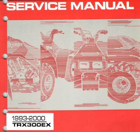 honda trx300ex service manual rh chrisevanszeal blogspot com Honda TRX 300 Fourtrax Parts Honda FourTrax 300 2WD