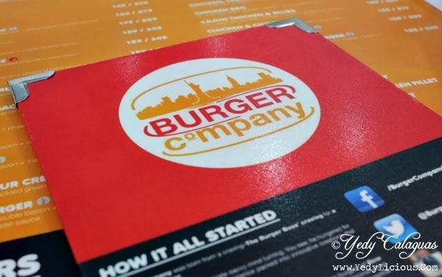 BUrger Company Quezon City Menu