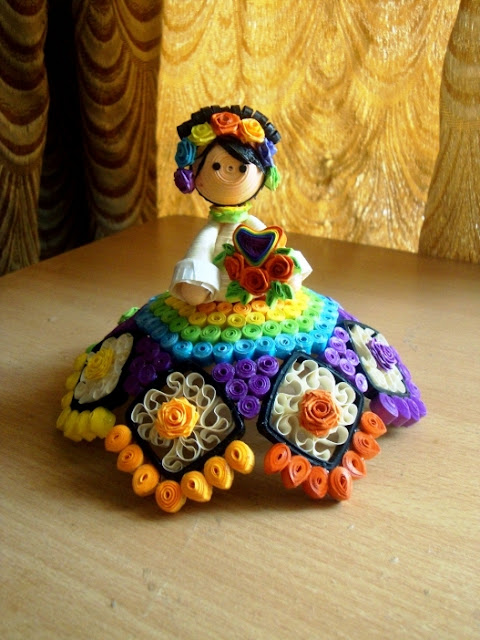 art crafts ideas: 3d quilling dolls