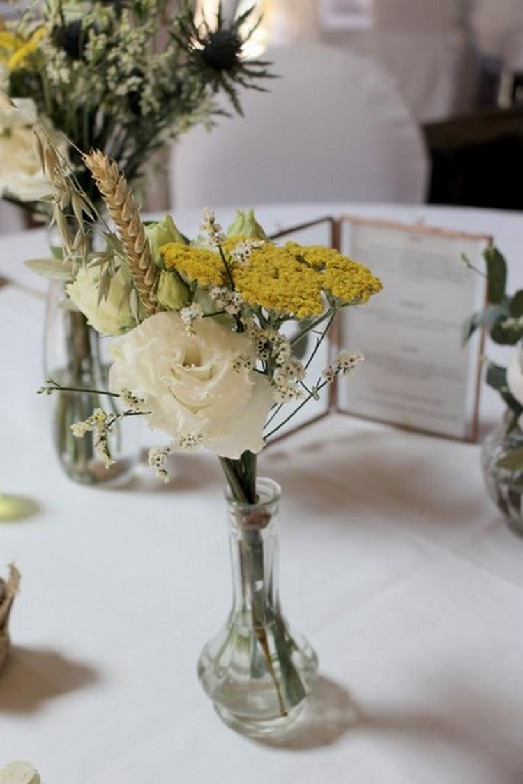 fleurs séchées, centre de table, inspiration mariage, french wedding florist