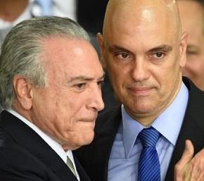 Temer quer indicar Moraes ao STF, mas ele pode estar impedido