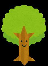 いろいろな木のイラスト「キャラクター」