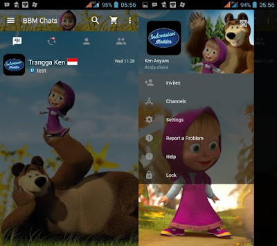 Download BBM MOD Tema  Serial Kartun/ Animasi