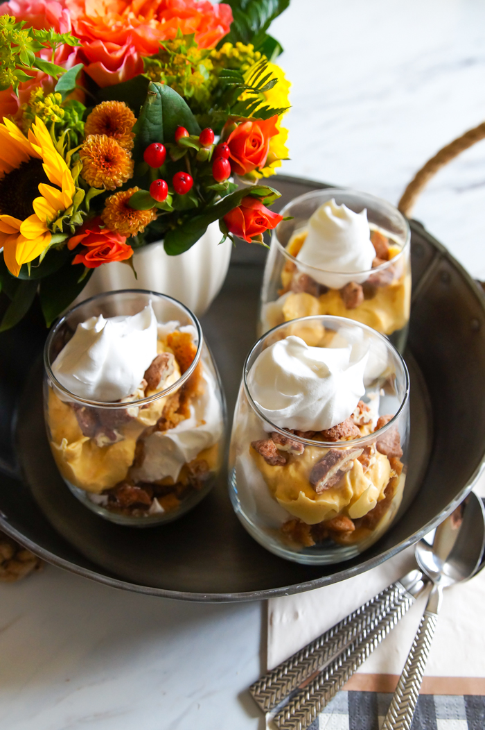 Easy fall parfaits! | 3 Thanksgiving Baking Hacks bakeat350.net