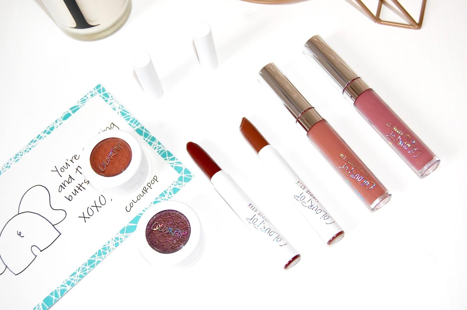 See my Colourpop haul here with swatches