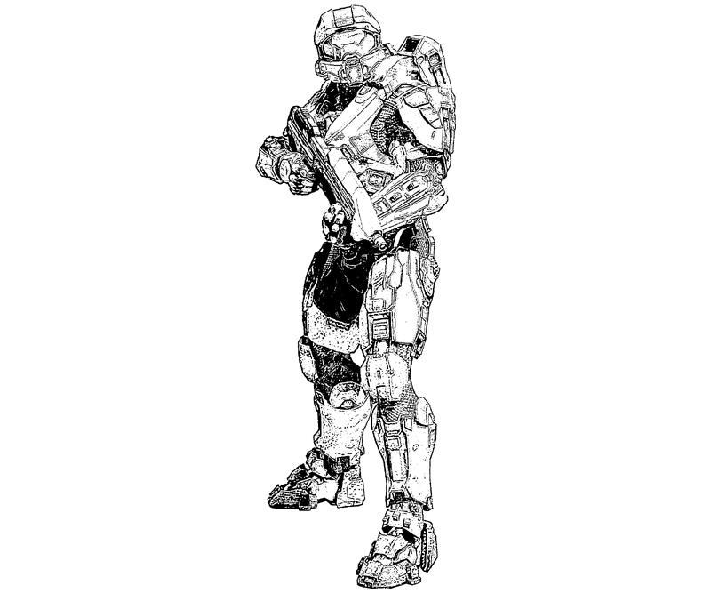 halo 4 character coloring pages list | Halo 4 Rookie Character | Yumiko Fujiwara